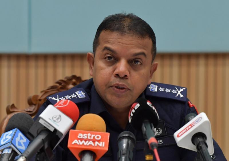 Johor police chief Datuk Ayob Khan Mydin Pitchay speaks during a press conference in Johor Baru April 1, 2020. — Bernama pic