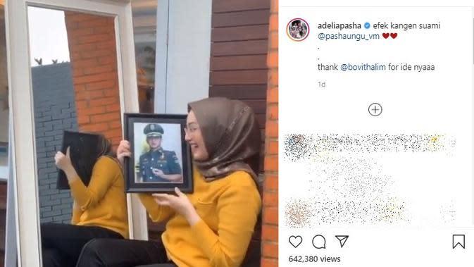 Adelia istri Pasha Ungu. (Instagram.com/adeliapasha)