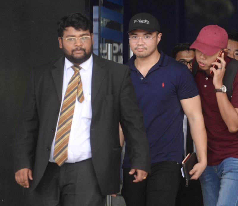 Haziq Abdullah Abdul Aziz is pictured leaving Dang Wangi police station in Kuala Lumpur June 15, 2019.