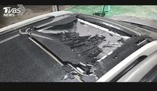 怎破掉!天窗突自爆 車行:恐是環保玻璃