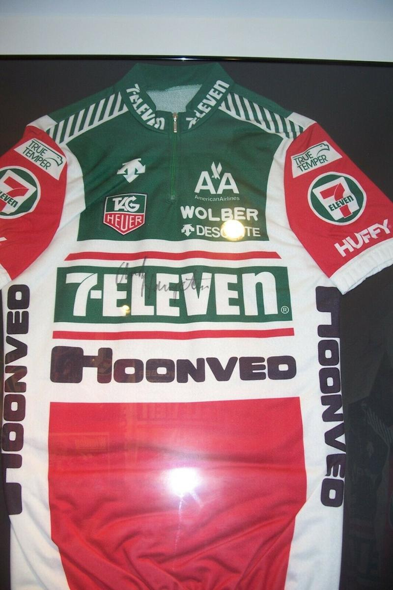 Andy Hampsten's signed 1988 Tour de France 7-Eleven jersey