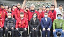 徐國勇陪蔡總統參訪紫微天后宮 (圖)