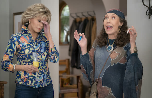 'Grace and Frankie' Season 6 Trailer: Grace and Nick's Newlywed Bliss Is Torturing Frankie (Video)