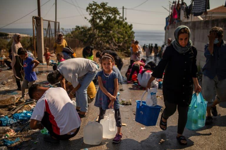 Migrants on Lesbos face desperate plight