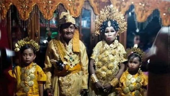 Pernikahan dua sejoli lanjut usia di Sidrap (Istimewa)