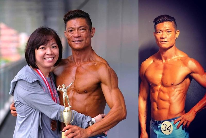 Kellvin Lim became the runner up of the 2019 Fitness Ironman bodybuilding competition in the 40 years old and above category. — Facebook/kellvin.lim