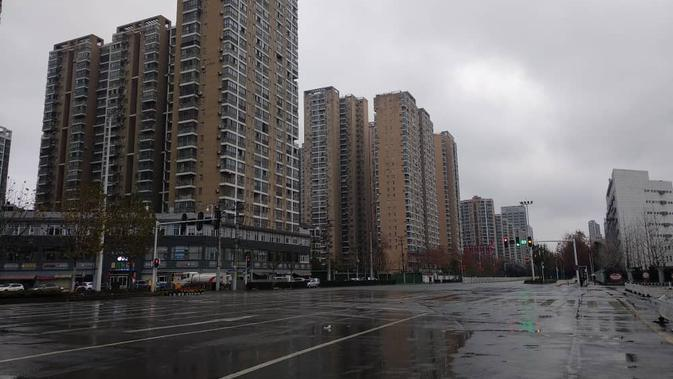 Situasi Kota Wuhan dekat Universitas Hubei di pusat kota. Dok: Siti Mawaddah/PPIT Wuhan
