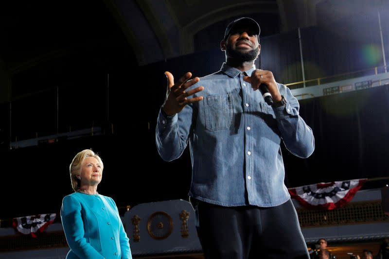 NBA star LeBron James' group plans effort to recruit poll workers for November