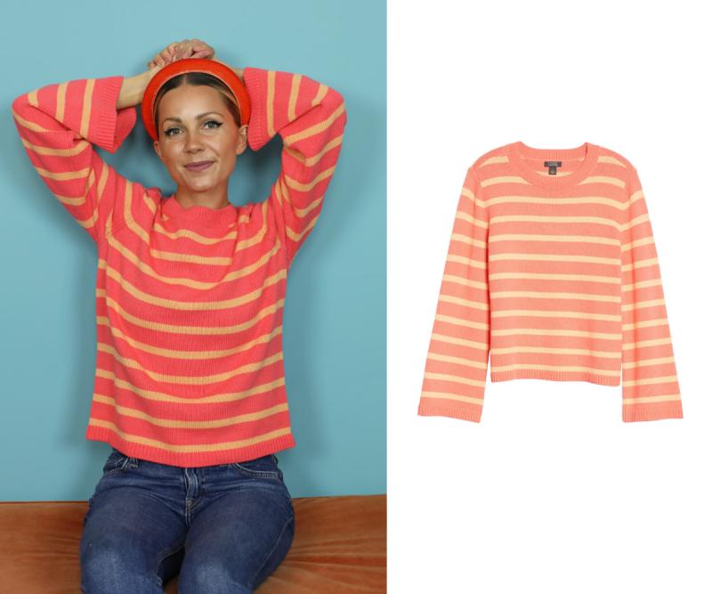 Oversize Stripe Sweater. Images via Nordstrom.