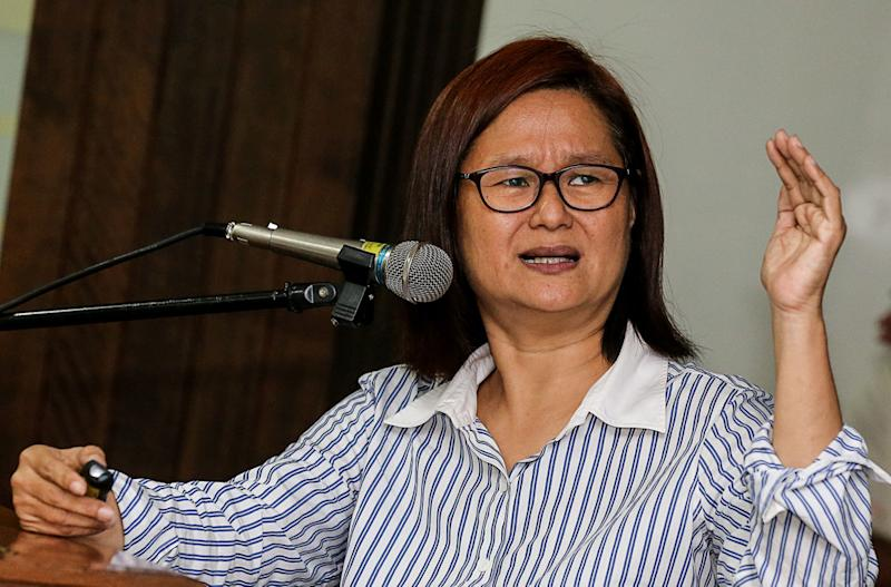 Khoo Salma Nasution speaks during the Pan Island Link (PIL1) Forum at Universiti Sains Malaysia in George Town September 18, 2018. — Picture by Sayuti Zainudin