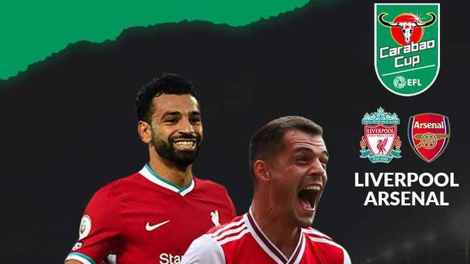 Carabao Cup - Liverpool Vs Arsenal - Head to Head Pemain (Bola.com/Adreanus Titus)