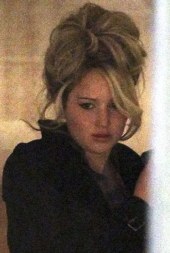 Jennifer Lawrence Spotted With Sky-High Hair for New Movie