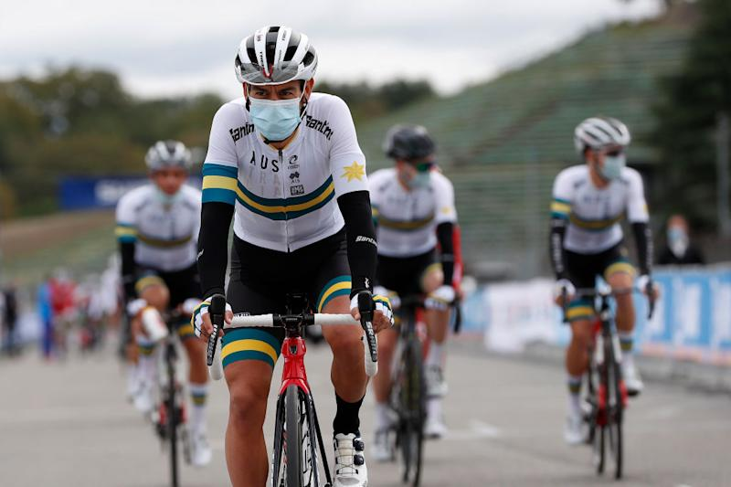 Richie Porte (Australia) at the start of the World Championships
