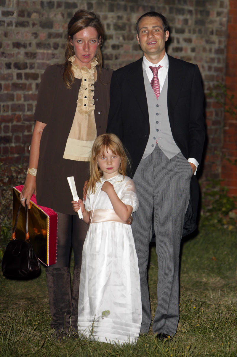 Photo of Kate Rothschild, Ben Goldsmith and Iris Goldsmith together in 2009.