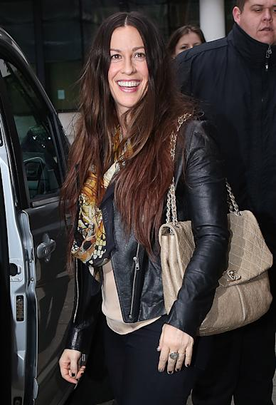 Alanis Morissette Sighting In London - November 28, 2012