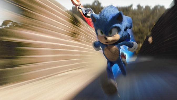 Salah satu adegan film Sonic The Hedgehog. (Foto: Dok Paramount Pictures)