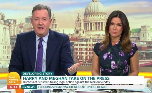 Piers Morgan talking about Prince Harry and Meghan Markle on Good Morning Britain