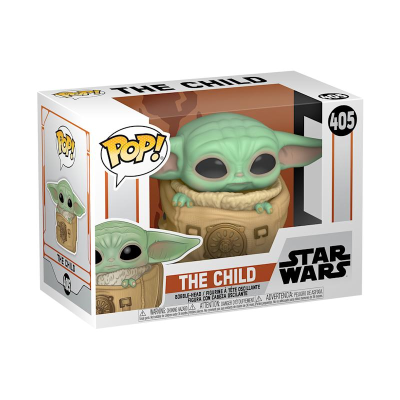 The Child (known affectionately as Baby Yoda) has been carefully swaddled in his carrier. Vinyl figure is approximately 3.15-inches tall.