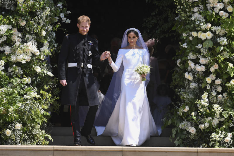 Prince Harry and Meghan Markle on their wedding day in May. (KGC-107/STAR MAX/IPx)