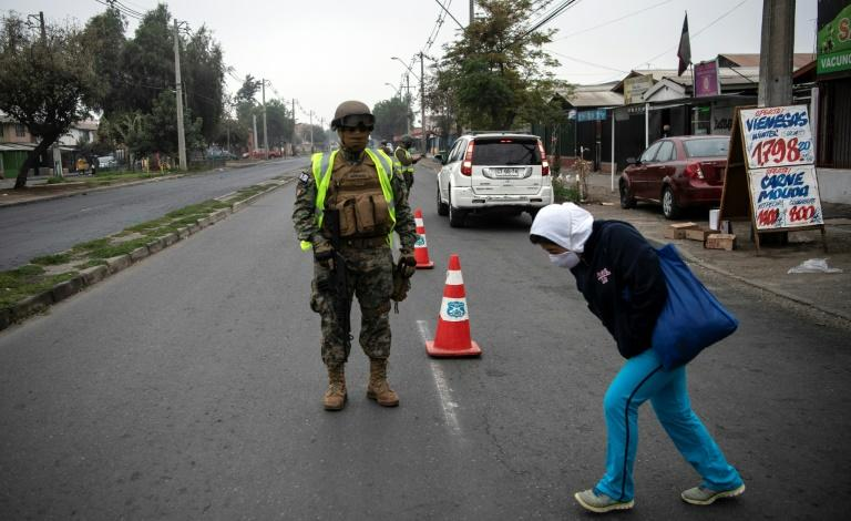 Chile deployed soldiers on the outskirts of its locked-down capital Santiago after clashes with protesters angry about food shortages and job losses