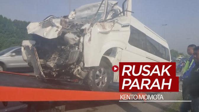 VIDEO: Tabrak Truk Besar, Ini Kondisi Mobil yang Ditumpangi Kento Momota