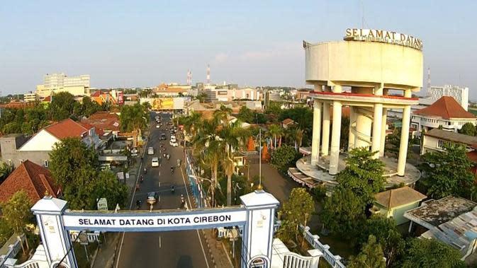 Menara Air ini menjadi salah satu ikon Kota Cirebon. Foto (Liputan6.com / Panji Prayitno)
