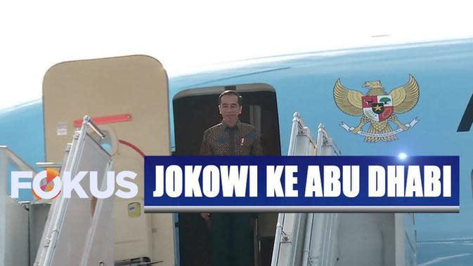 Jokowi Hadiri Pertemuan Bilateral hingga Jadi Pembicara di Abu Dhabi