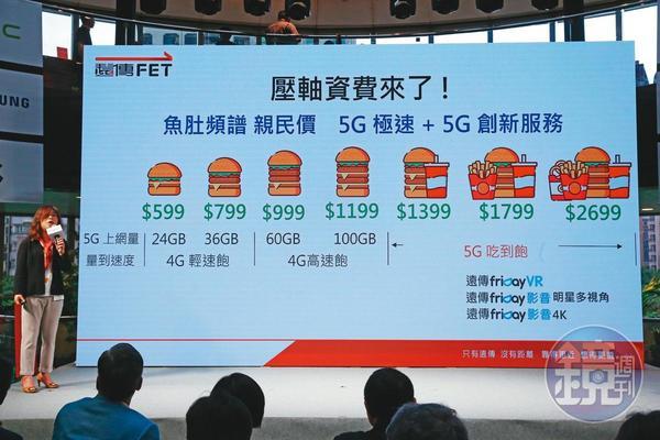 遠傳電信晚中華電信和台灣大3天開台,4種資費「4G吃到飽」成為最大亮點。