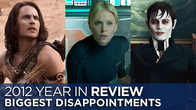 The Most Disappointing Movies of 2012