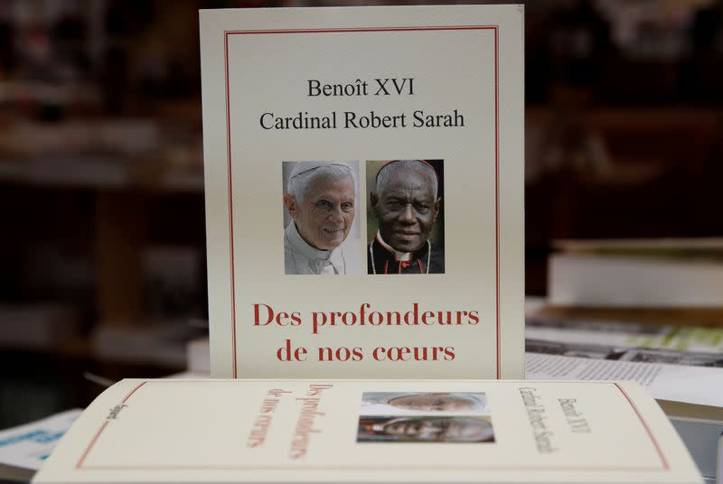 """FILE PHOTO: Ex-pope Benedict XVI book """"From the Depths of Our Hearts"""" launches in France"""