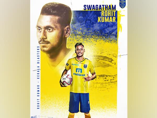 Midfielder Rohit Kumar (Photo/Kerala Blasters FC Twitter)