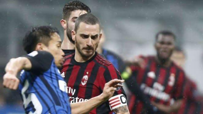 Pertandingan Derby della Madonnina antara AC Milan kontra Inter Milan pada musim lalu.