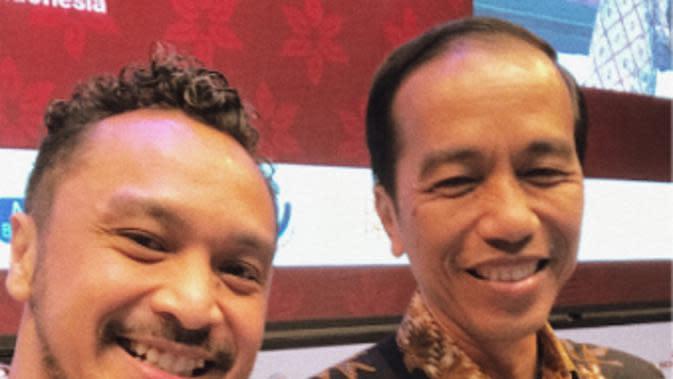 Giring Nidji dan Jokowi. (Instagram/giring)