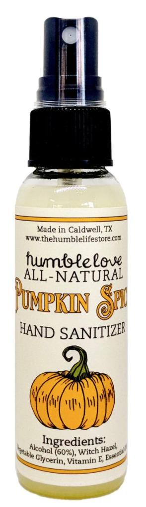 HumbleLove Pumpkin Spice Hand Sanitizer