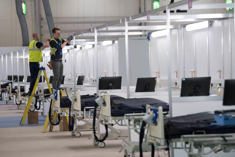 Britain builds NHS Nightingale Hospital for coronavirus patients in London