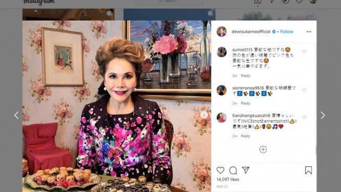 Usia 80, Foto Wajah Cantik Awet Muda Dewi Soekarno Jadi Sorotan