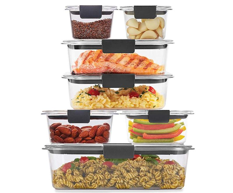 Rubbermaid Brilliance storage containers are made of BPA plastic that you'd swear is glass. (Photo: Amazon)