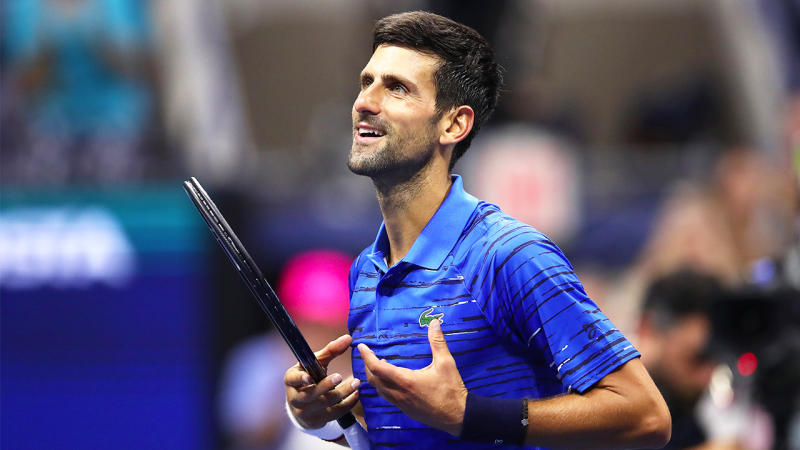 Novak Djokovic congratulated Rafael Nadal after his US Open win. (Getty Images)