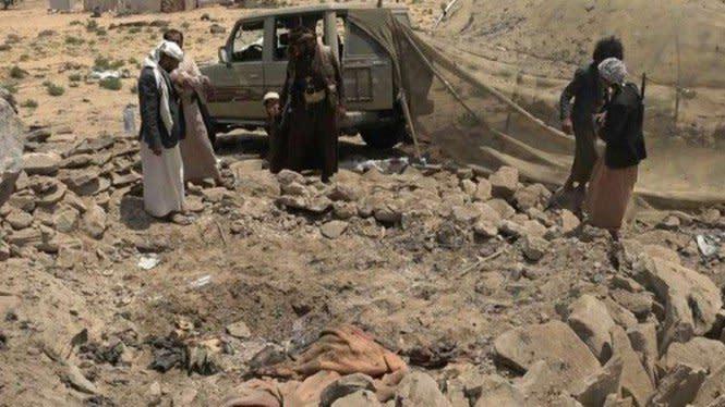 Biadab, Dua Wanita Miskin Tewas Dirudal Jet Tempur Militer Arab Saudi