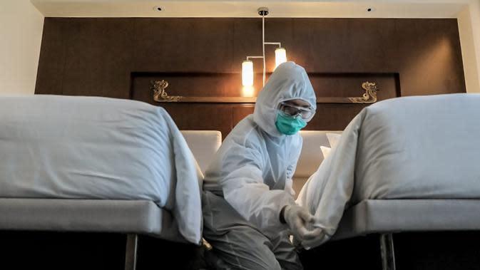 Kamar hotel Le Meridien yang bakal ditempati tenaga medis yang menangani Covid-19. (dok. Biro Komunikasi Publik Kemenparekraf/Dinny Mutiah)