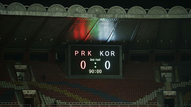 North Korea's historic match against South Korea ended in a goalless draw.