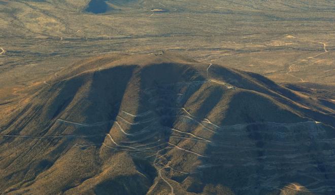 The Round Top Mountain mine in Texas. Photo: USA Rare Earth