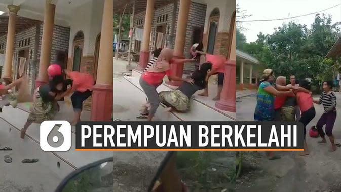 VIDEO: Viral Perempuan Berkelahi Salah Satunya Dipukul Pakai Helm