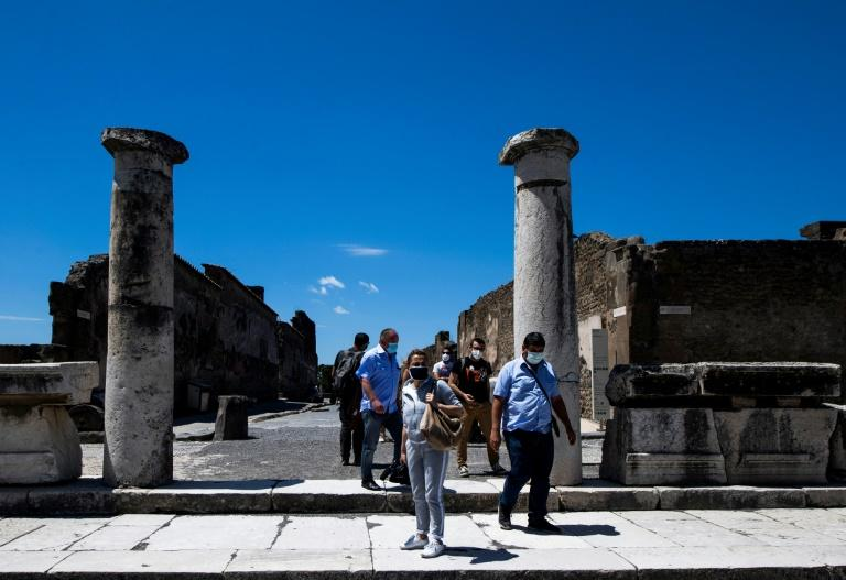 The ruins of the Roman city of Pompeii reopened on Tuesday