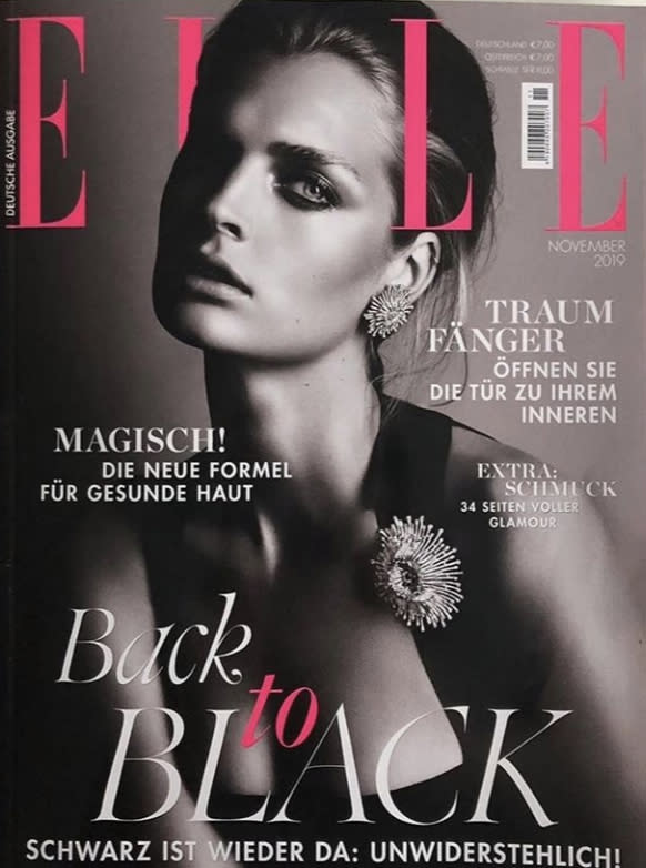 ELLE Germany's controversial 'Back to Black' November 2019 issue.