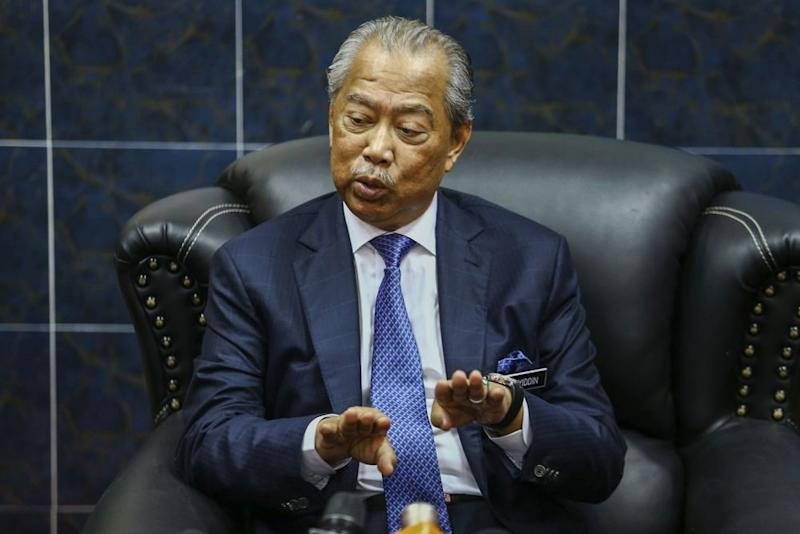 Home Minister Tan Sri Muhyiddin addresses members of the press at the Prisons Academy in Kajang March 20, 2019. — Picture by Hari Anggara