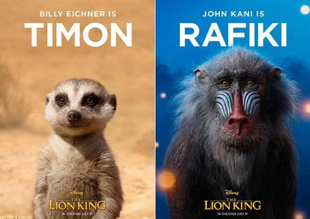 Carteles de Timón y Rafiki (Cortesía de Walt Disney)