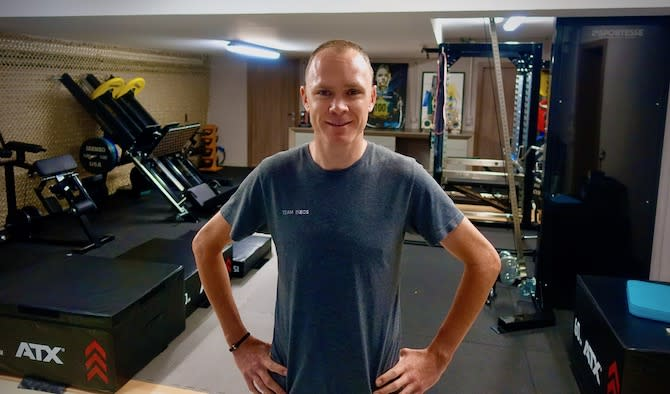 Chris Froome (Team Ineos) is ready for another session in his 'pain cave'