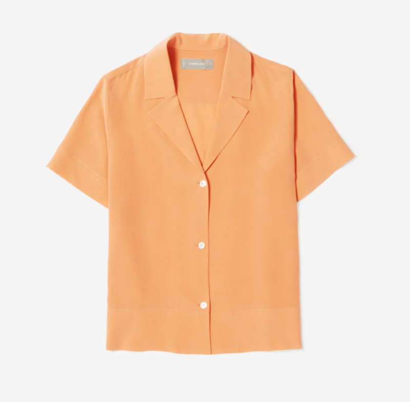 The Clean Silk Short-Sleeve Notch Shirt by Everlane