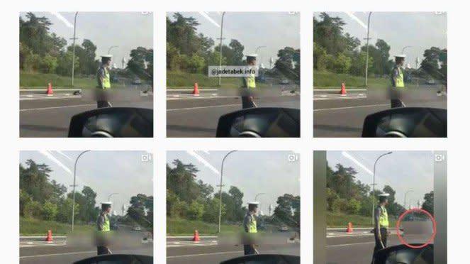 Sebaran postingan video kecelakaan Tol Jagoawi di Instagram.